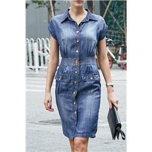 Fashion Denim Mini Dress