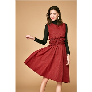 Long-sleeved dress female temperament v-neck plaid fashion slim slimming lace elegant skirt