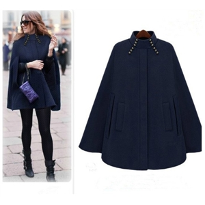 Autumn and winter fashion warm woolen cloak coat