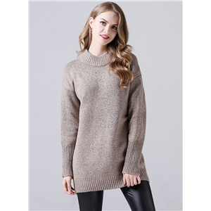 Casual Round Neck Long Sleeve Loose Pullover Sweater
