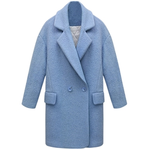 Winter Solid Color Wool Blend Cocoon Coat