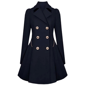 Womens Long sleeves Attractive Double-Breasted Trench Coat