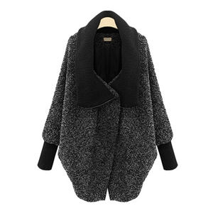 Winter High Collar Thick Braided Woolen Coat