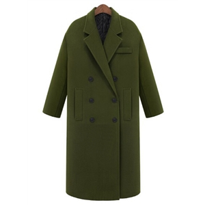 Winter Warm Medium Long Woolen Coat