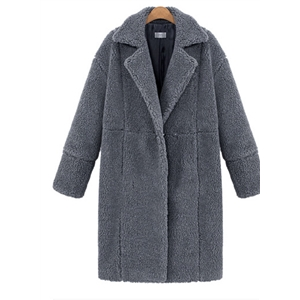 Cashmere Long Sleeved Solid Color Wool Coat