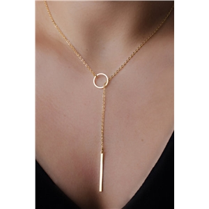 Golden Hole In One Necklace