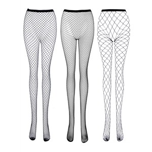 3 Pairs Hollow out Fishnet Pantyhose Tights Stockings