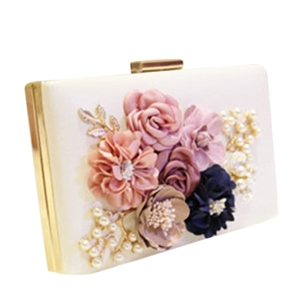 Glamour Floral Decoration Flap Evening Clutches