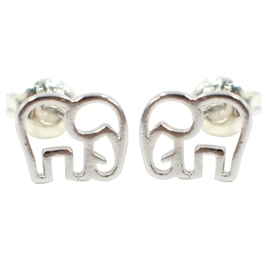 Womens Sweet Elephant Pattern Antique Metallic Earrings