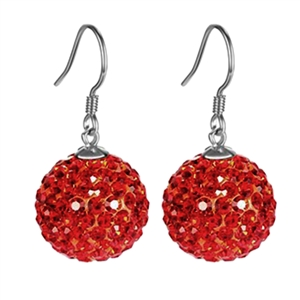Fashion Solid Rhinestone Decoration Ball Drop Earrings
