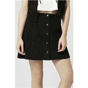 Chic Corduroy Button Front Skirt
