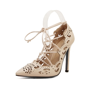 Fashion Hollow-Out Lace-up High Heel