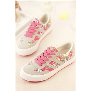 Preppy Style Floral Sneakers