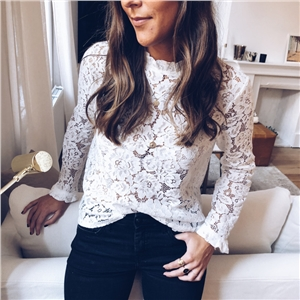 Lace sexy blouse
