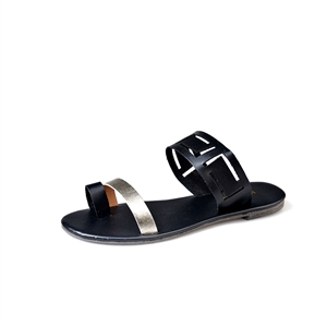 Four-color beach open toe flat sandals women's shoes