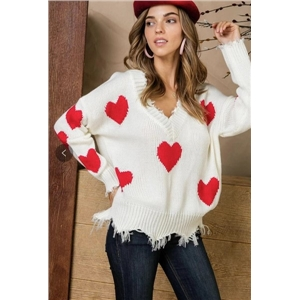 Strap loose sweater love sweater cut popular personality net red shirt