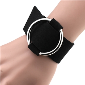 Simple wild ring round flannel bracelet bracelet wristband metal round buckle bracelet jewelry