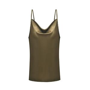 Army green adjustable strap vest bottoming shirt top