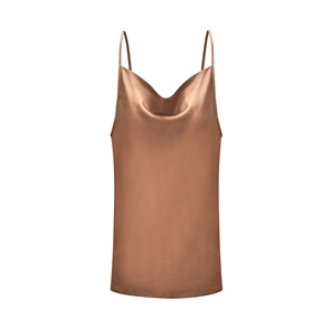 Khaki adjustable strap vest bottoming shirt top