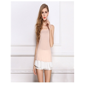Nude blouse chiffon shirt sling bottoming shirt sleeveless chiffon vest