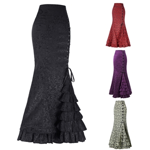 Fashion sexy prom fishtail waistband women's long skirt skirt
