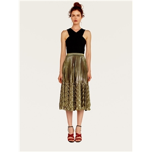 Pleated Slim High Waist Skirt Large Fishtail Skirt Beach Skirt