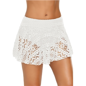 Boxer crochet lace boxer seaside resort beach trousers