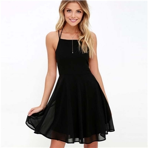 Women's Sleeveless Back Cross Dress