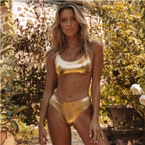 Golden Silver Hot Gold Bikini Swimsuit