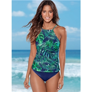 Multicolor printed beach one-piece bikini swimsuit