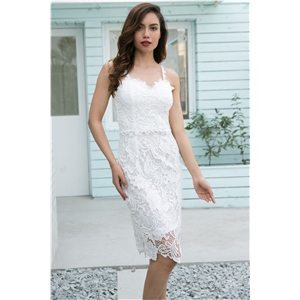 Fashion sexy slim lace strap dress