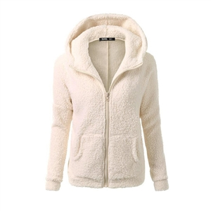 Autumn and winter plus velvet sweater women's thick coat