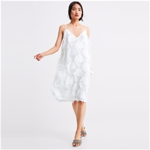 White loose version design texture micro-small dress dress female