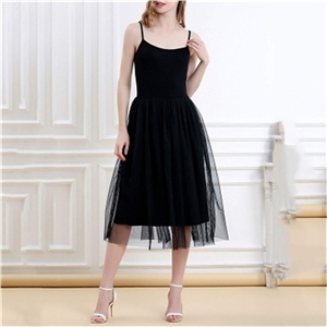 Solid color women's long long skirts sleeveless high waist short skirt party dress