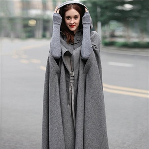 Autumn and winter cloak bohemian woolen coat hooded cloak wool coat