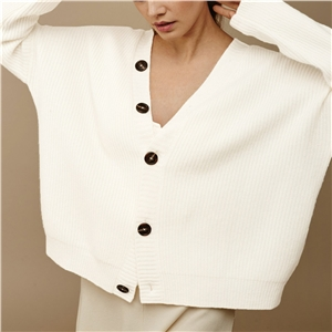 Solid color sweater single row button cardigan sweater cardigan