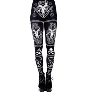 Halloween Print Yoga Sports Fitness Hips Leggings