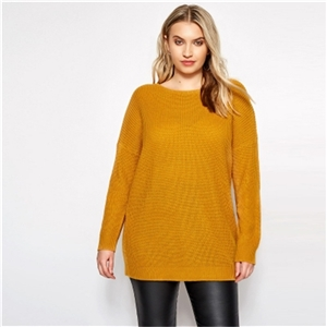Large size sweater loose long sleeve round neck sweater