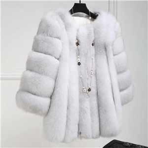 Winter solid color warm imitation fur fashion casual sexy long-sleeved jacket