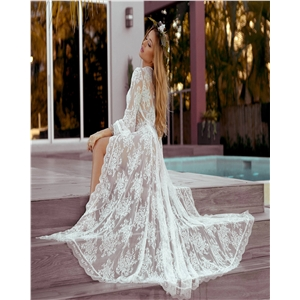 Wavy lace lace loose sunscreen beach cardigan long skirt holiday wear swimsuit outside blouse