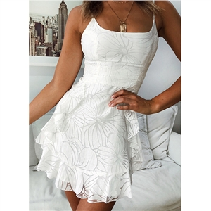 Short dress with white collar dress