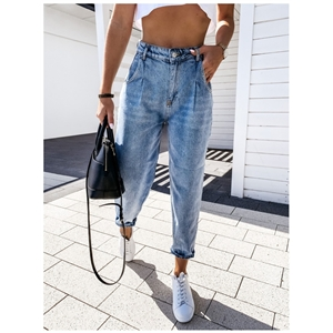 Blue autumn and winter casual temperament harem pants women's jeans