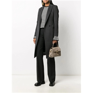 Simple fashion suit collar slim fit OL commuter mid-length ladies coat