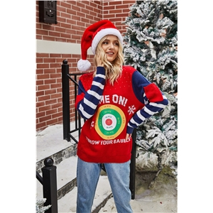 2020 hot-selling fashionable loose long-sleeved round neck pullover Christmas sweater