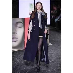 Winter new fashion temperament versatile double-breasted shawl-shaped cloak mid-length wool coat