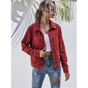 Autumn and winter corduroy casual wear coat jacket top
