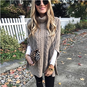High collar solid color street hipster sweater loose fashion sweater