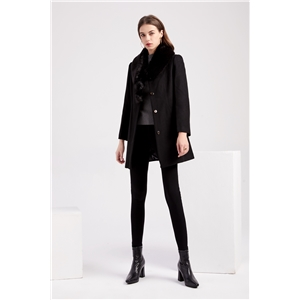 Women's woolen collar woolen coat warm winter coat woolen coat