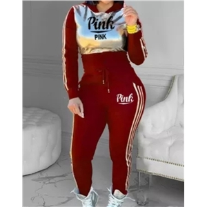 Women's stitching letter printing fashion sports suit