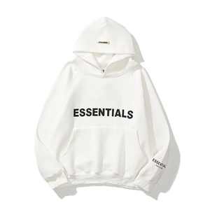 Street style ESSENTIALS reflective three-dimensional letter sweater hoodie fear of god men and women couples plus velvet jacket